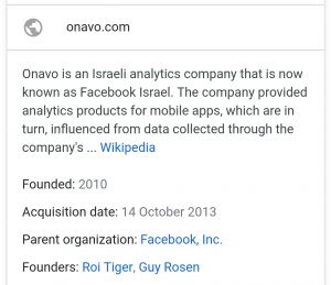 Onavo Facebook research