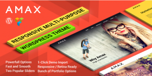 Amax — Responsive Multi Purpose WordPress Theme