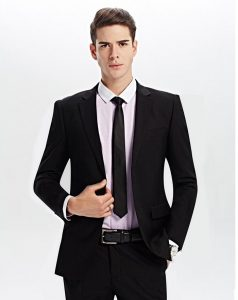 black suit - men