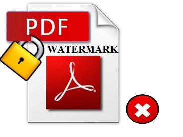 cannot remove watermark from pdf