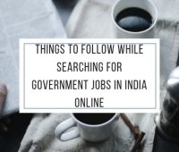 Searching Government Jobs India Online