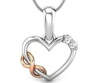 heart shaped pendant for couples
